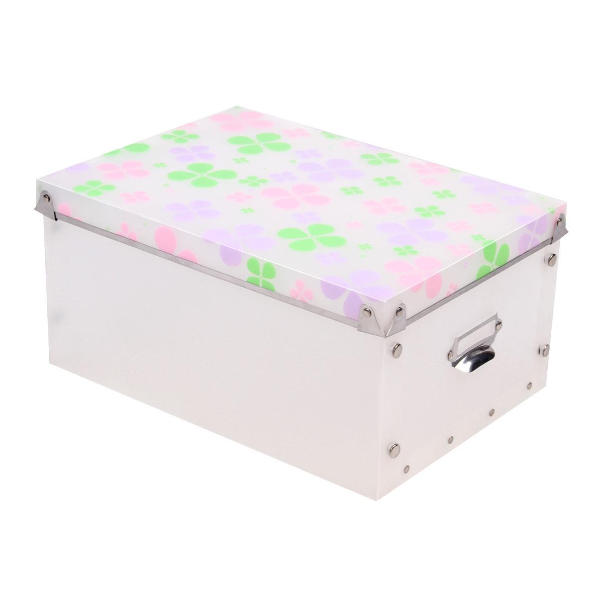Коробка для хранения Miolla складная, белый короб для xранения обуви miolla 52 x 30 x 11 см