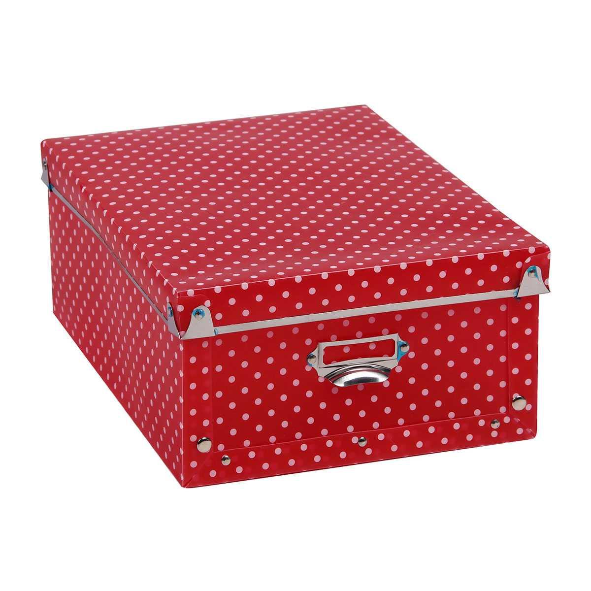 Коробка для хранения Miolla складная, красный короб для xранения обуви miolla 52 x 30 x 11 см