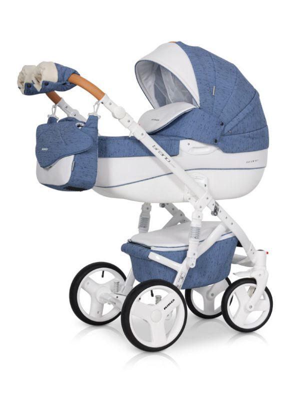 Коляска универсальная Riko BRUNO LUXE 04 Denim (синий) коляска 2 в 1 riko bruno luxe 04 denim