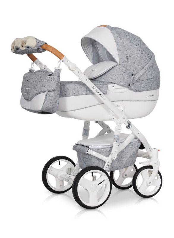 Коляска универсальная Riko BRUNO LUXE 05 Grey Fox (серый) коляска 2 в 1 riko bruno luxe 04 denim