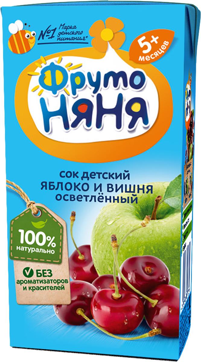 Фото - ФрутоНяня сок из яблок и вишни с 5 месяцев, 0,2 л фрутоняня сок из яблок 0 5 л