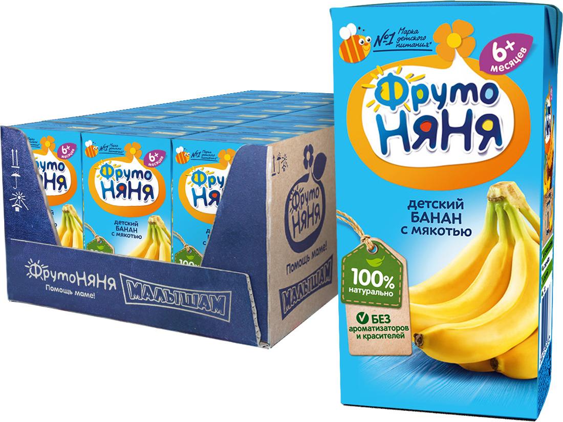 Нектар из бананов с мякотью с 6 месяцев ФрутоНяня, 27 шт по 0,2 л