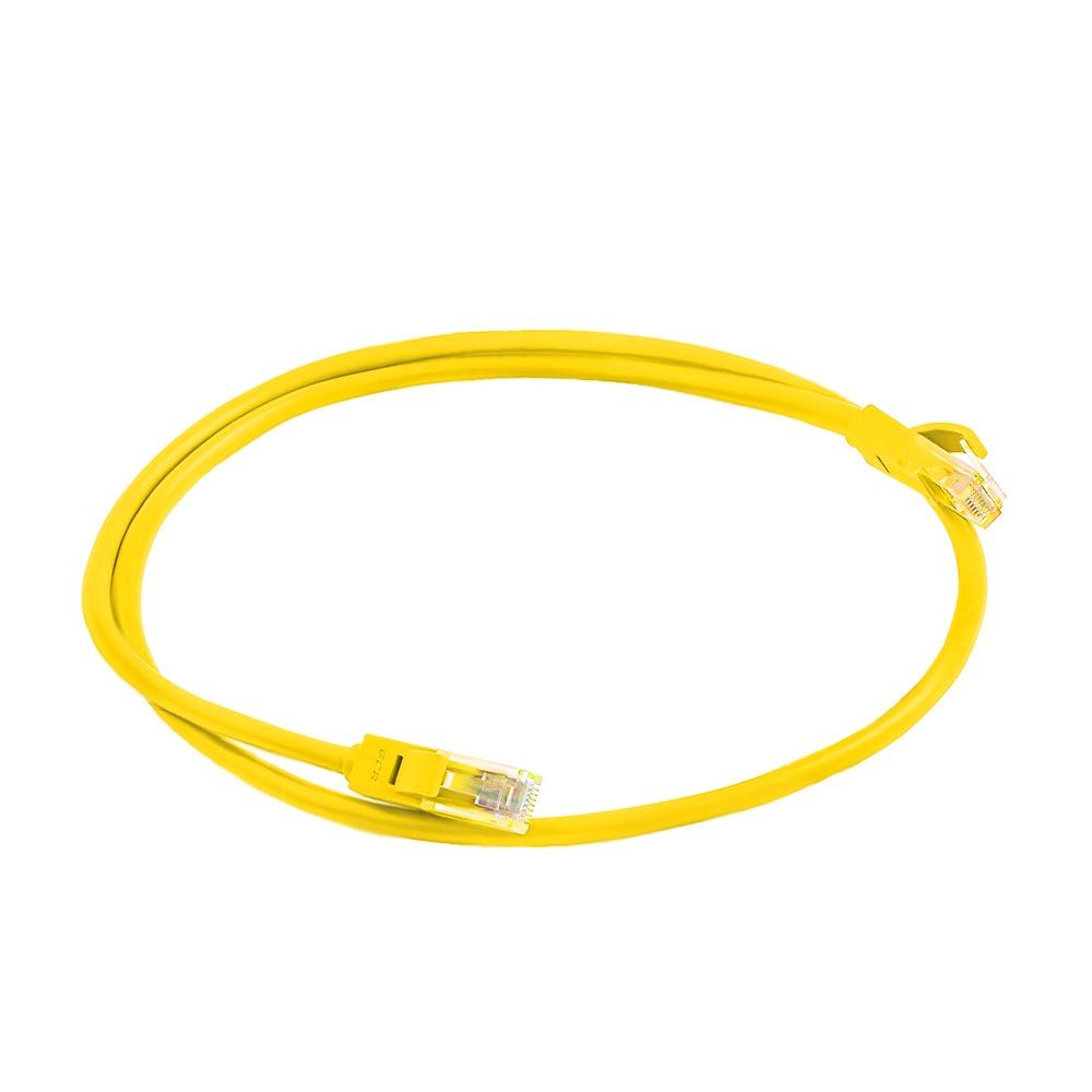 Патч-корд Greenconnect cat6, GCR-LNC602-0.75m, ethernet high speed, позолоченные контакты, литой, 0.75m, желтый