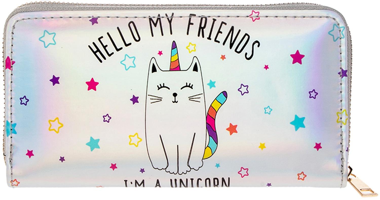 Кошелек Alessandro Frenza Кот-единорог, серебристый поло print bar кот единорог
