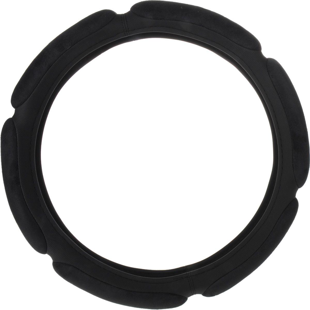 Оплетка руля Autoprofi Sponge SP-5026, 6 подушечек, наполнитель: поролон, цвет: черный. Размер S (36 см) оплетка руля autoprofi экокожа размер м черная