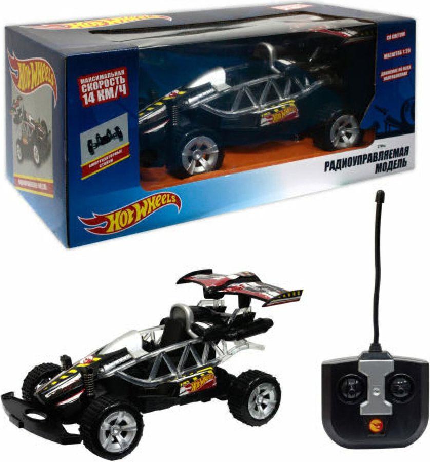 Машина радиоуправляемая 1TOY Hot Wheels Багги, на батарейках, масштаб 1:20, Т10974, черный набор машинок hot wheels 54886 масштаб 1 64 10шт