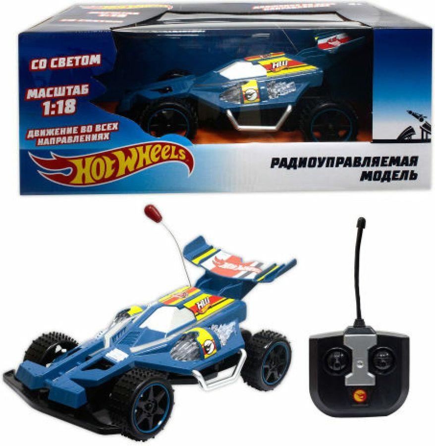 Машина радиоуправляемая 1TOY Hot Wheels Багги, на батарейках, масштаб 1:18, Т10977, синий набор машинок hot wheels 54886 масштаб 1 64 10шт