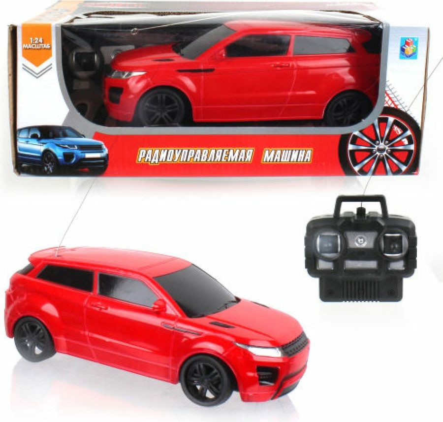 Машина радиоуправляемая 1TOY Джип, на батарейках, 4 канала, масштаб 1:24, Т13831, красный, 20 см игрушка машина р у 1 24 джип