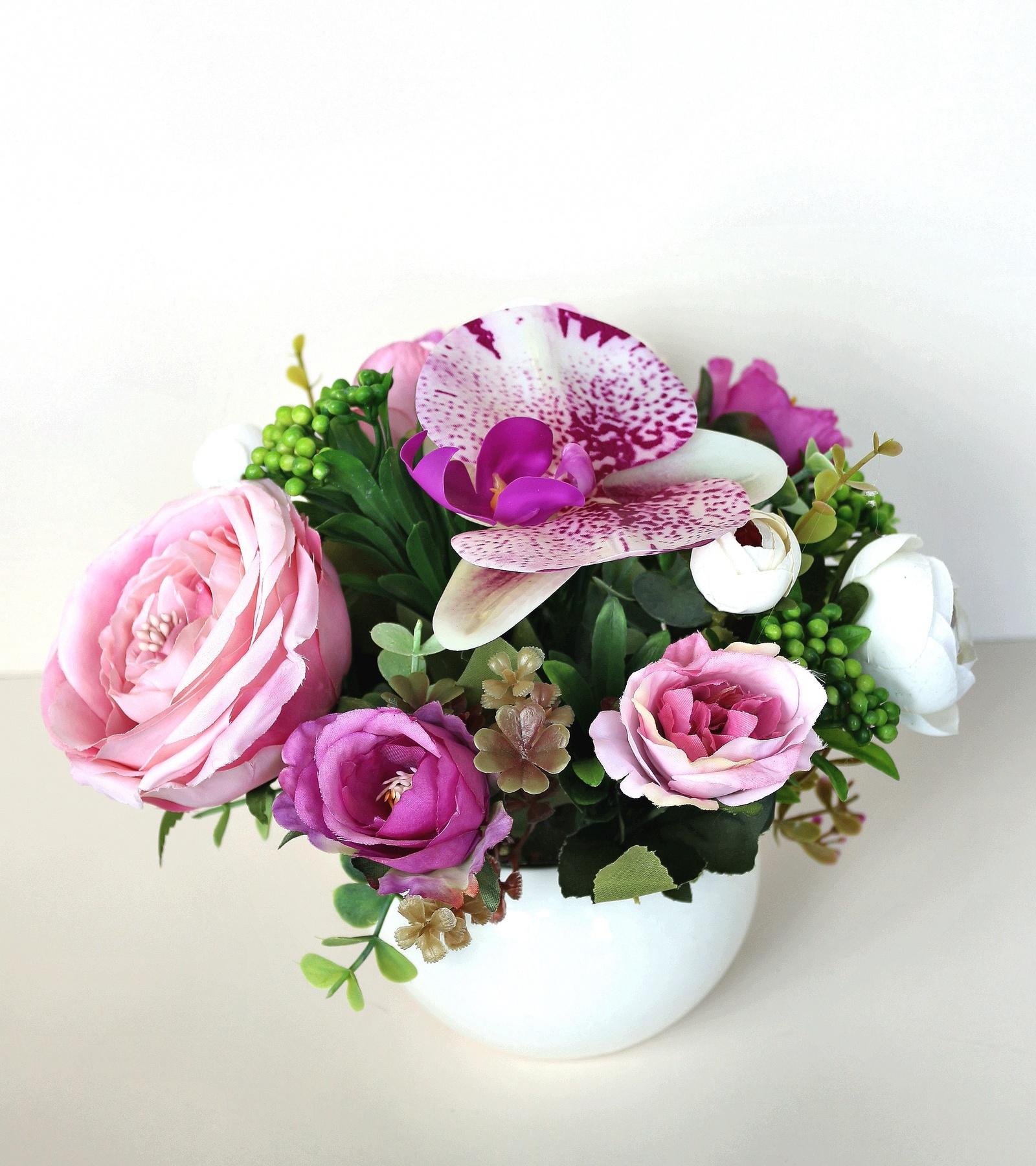 Искусственные цветы 403221, светло-розовый emo 02 композиция из натуральных орхидей