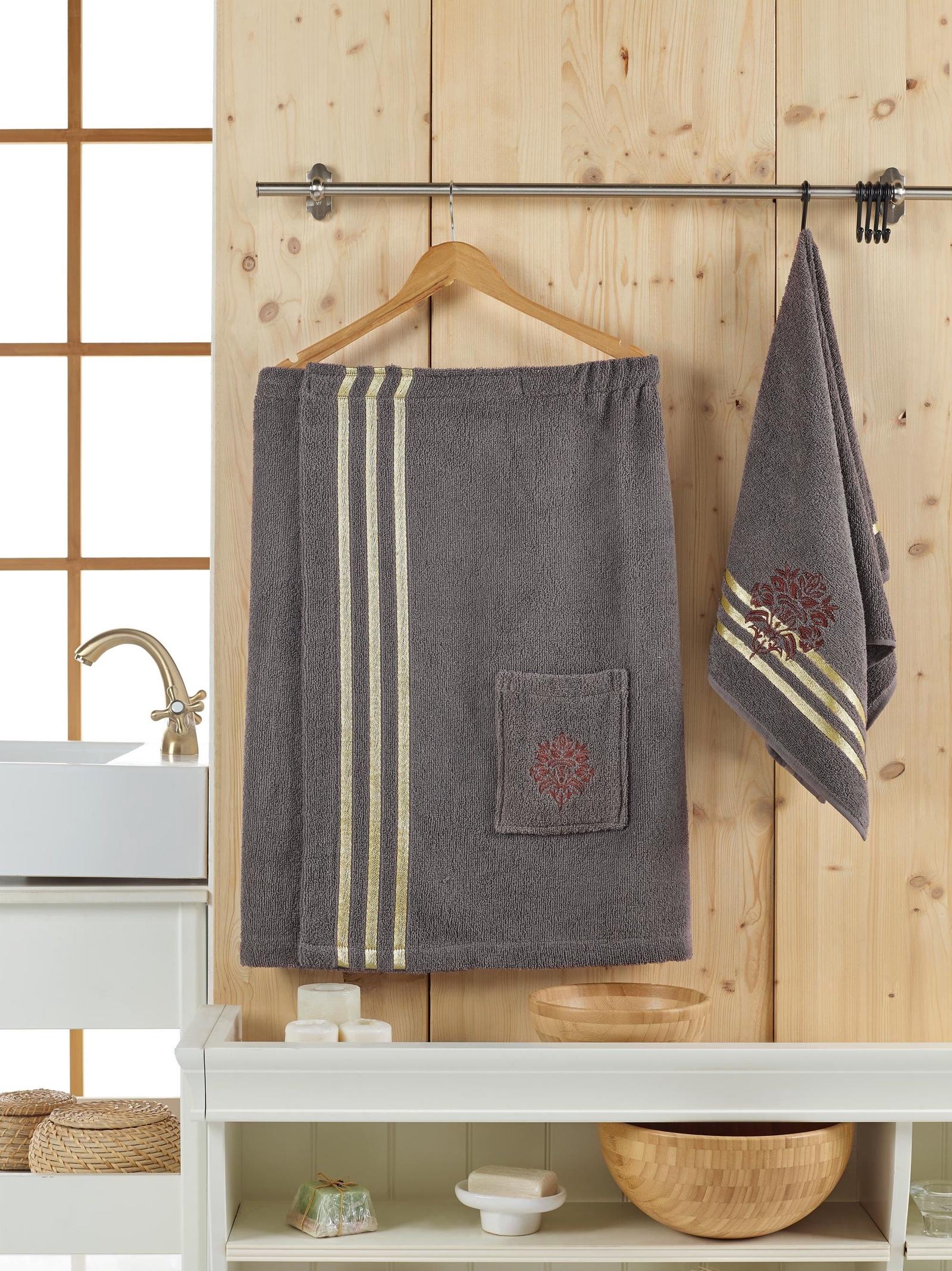 Банный комплект JUANNA Сауна женская SEVAKIN_коричневый, коричневый банный комплект juanna сауна женская sevakin коричневый коричневый