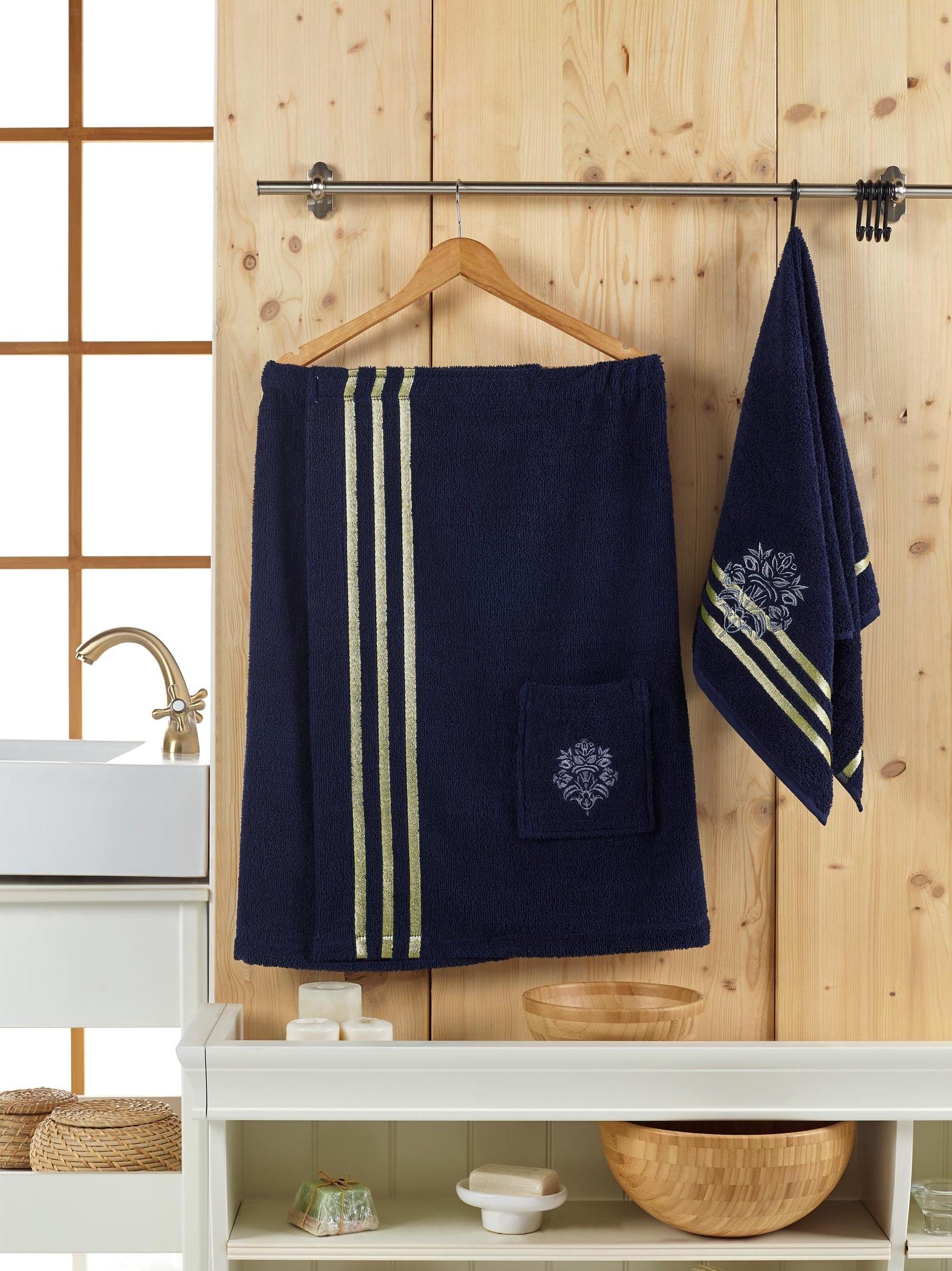 Банный комплект JUANNA Сауна женская SEVAKIN_синий, синий банный комплект juanna сауна женская sevakin коричневый коричневый