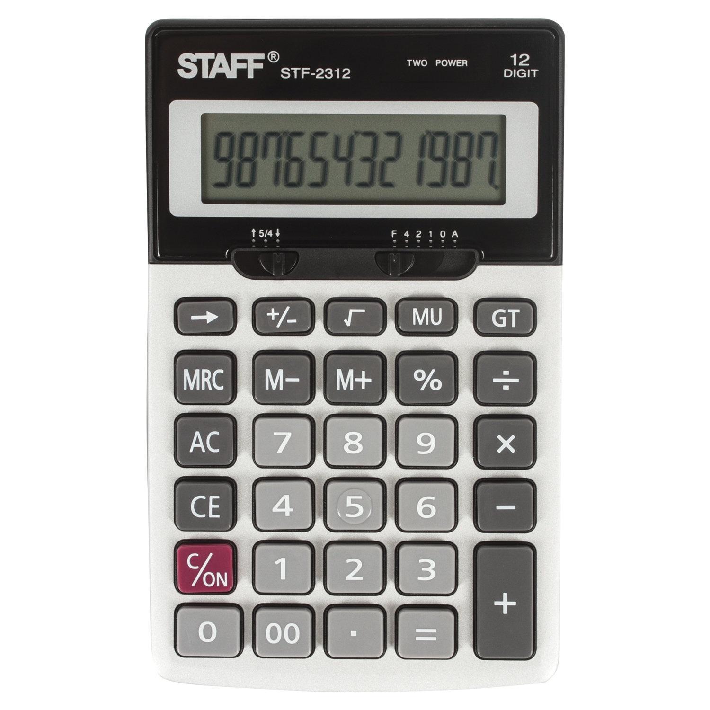 Настольный калькулятор Staff 250135 калькулятор canon ws 1210t 12 разряда настольный регулируемый наклон дисплея черный