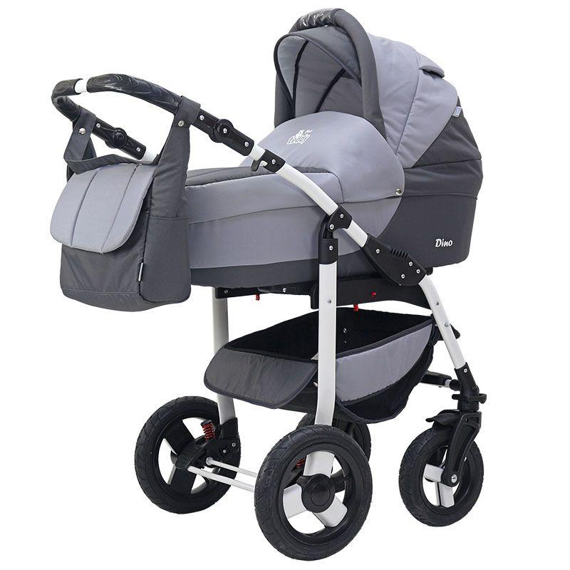 Коляска-люлька BartPlast Коляска DINO (BartPlast) 03 графит-серый коляска mr sandman guardian 2 в 1 графит серый kmsg 043601