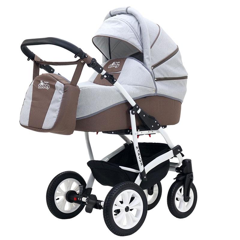 Коляска-люлька BartPlast Коляска MARCUS LUX (BartPlast) 04 серый-коричневый коляска прогулочная teddy bartplast kacper lux pc серый графит 10