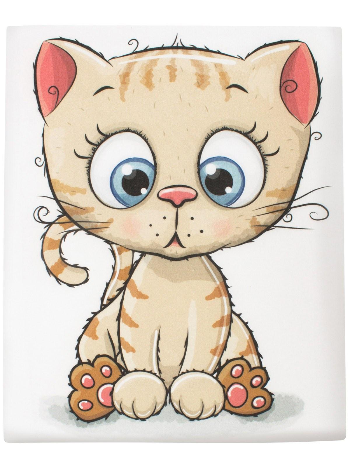 Пеленка текстильная Luxury Baby Трикотажная пеленка Котик