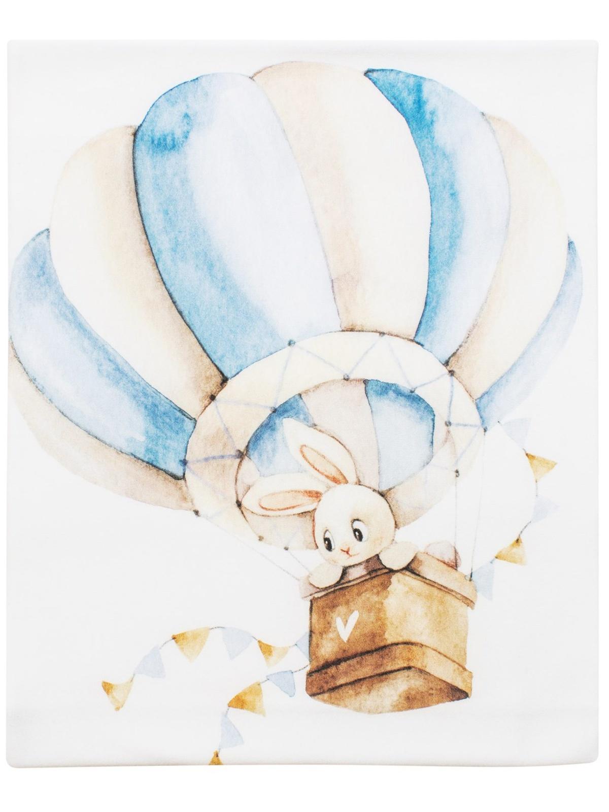 Пеленка текстильная Luxury Baby Трикотажная пеленка Зайка на воздушном шаре