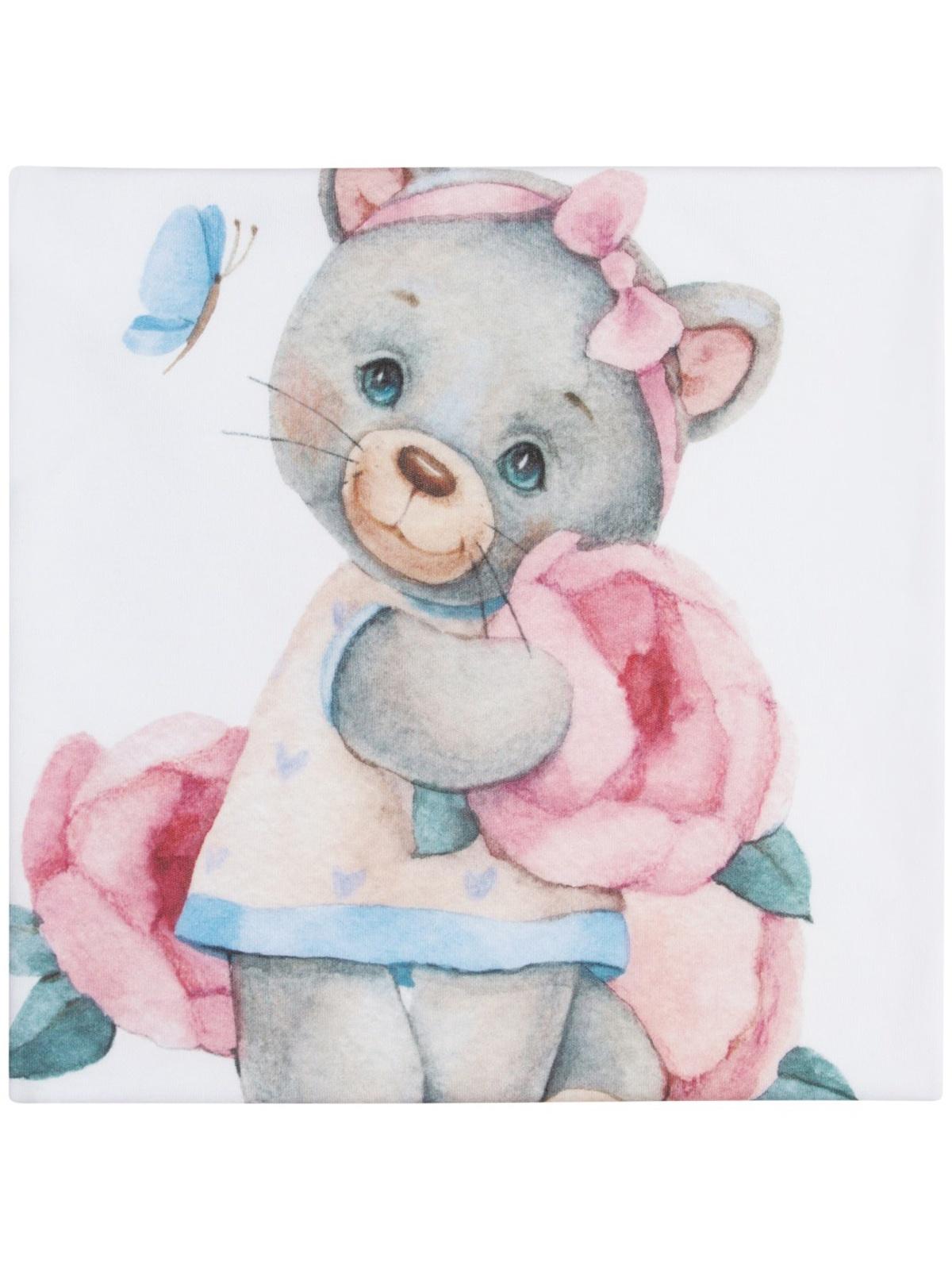 Пеленка текстильная Luxury Baby Трикотажная пеленка Милая киска