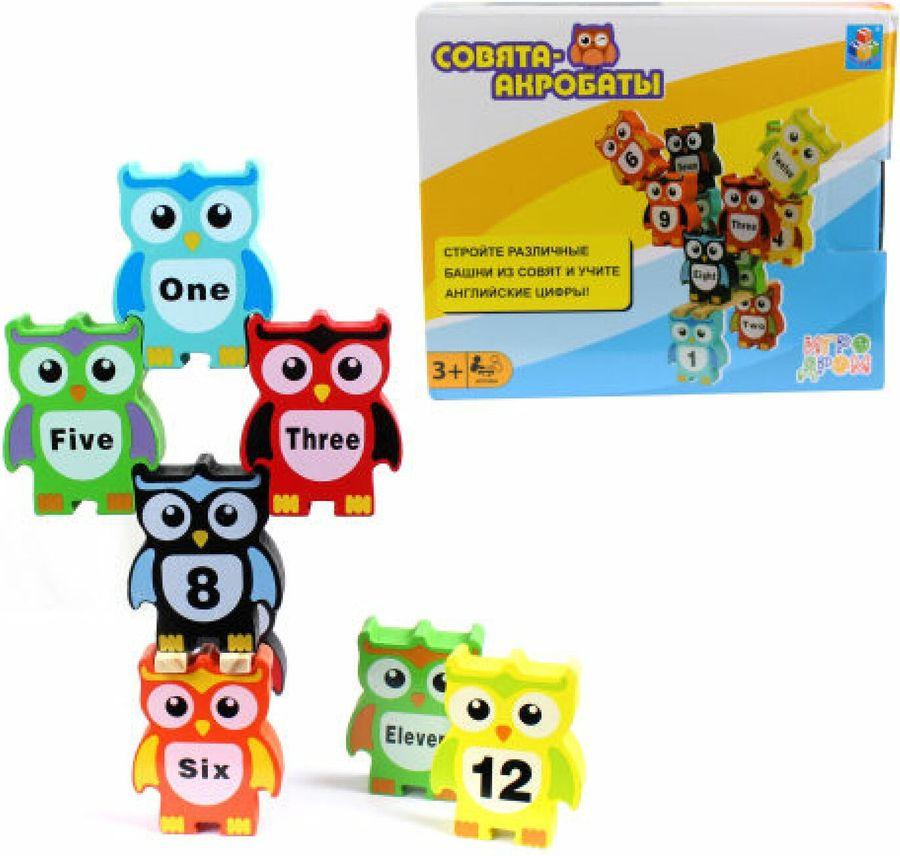 Настольная игра 1TOY Игродром Совята-акробаты, Т13551, 14,6 х17,5 х 4,2 см