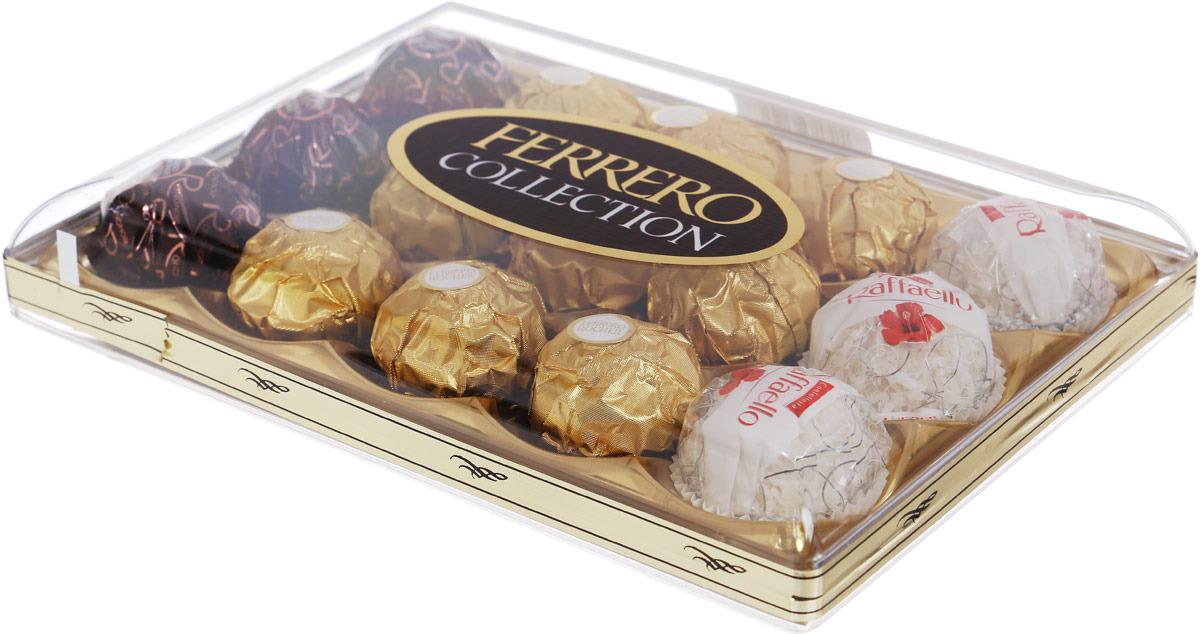 Фото - Ferrero Collection набор конфет: Raffaello, Ferrero Rocher, Ferrero Rondnoir, 172,2 г ferrero prestige набор конфет mon cheri ferrero rocher pocket coffee espresso 246 г