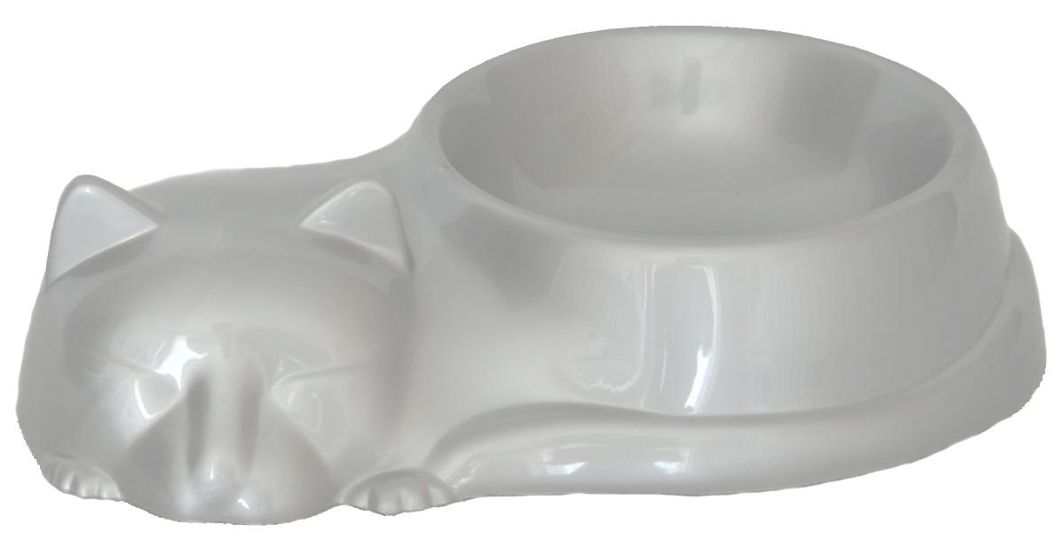 Миска для животных миска для кошек, серебристый