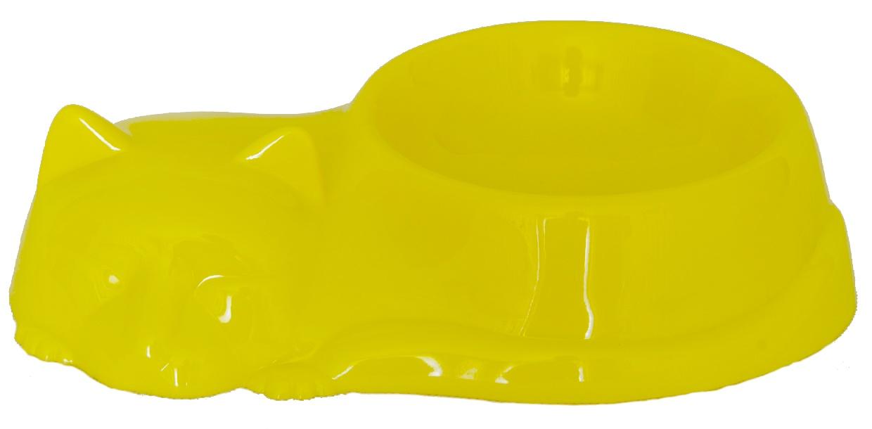 Миска для животных миска для кошек, желтый