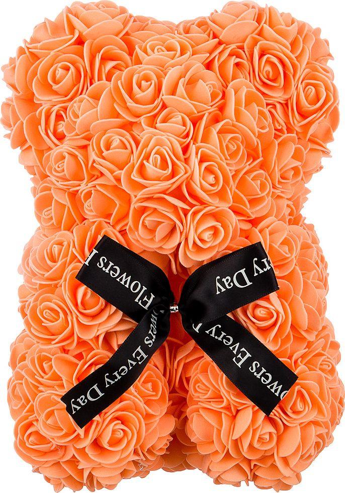 Украшение для интерьера Lefard Медвежонок из роз, 192-505, оранжевый, 25 см
