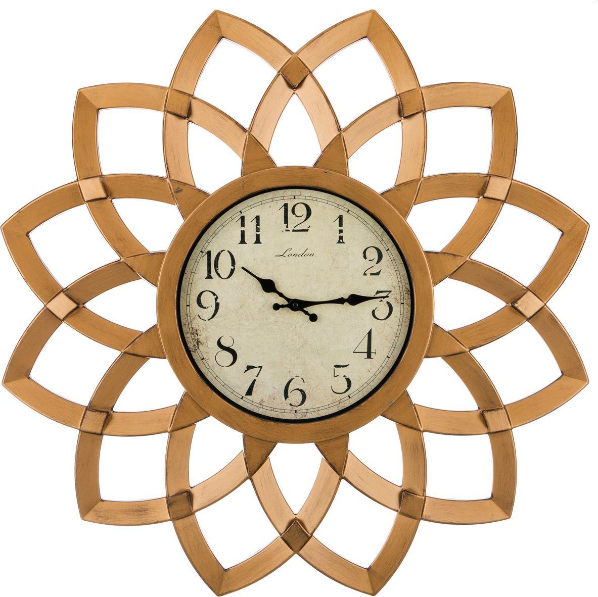 Часы настенные Lefard Swiss Home, кварцевые, цвет: коричневый, 74 х 74 х 5 см часы настенные arte nuevo sweet home 21 5 см