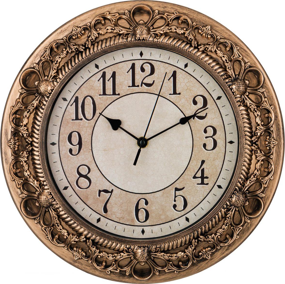 цена Настенные часы Lefard Royal House, 220-197, 33 х 33 х 4 см онлайн в 2017 году