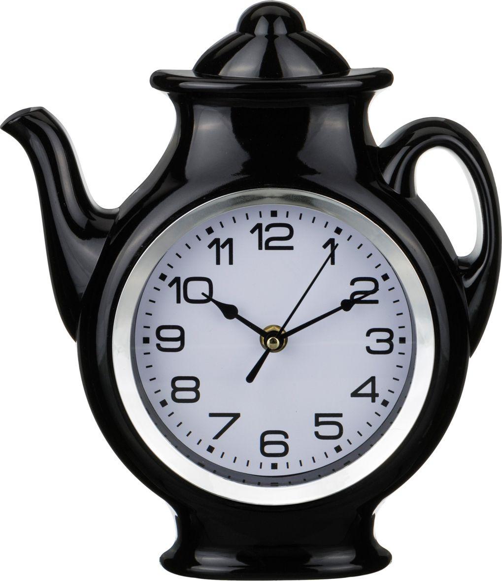 лучшая цена Настенные часы Lefard Chef Kitchen, 220-216, черный, 25 х 30 х 5 см