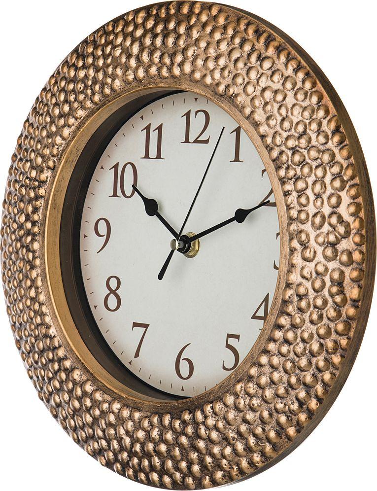 Настенные часы Lefard Italian Style, 220-266, античное золото, диаметр 25 см
