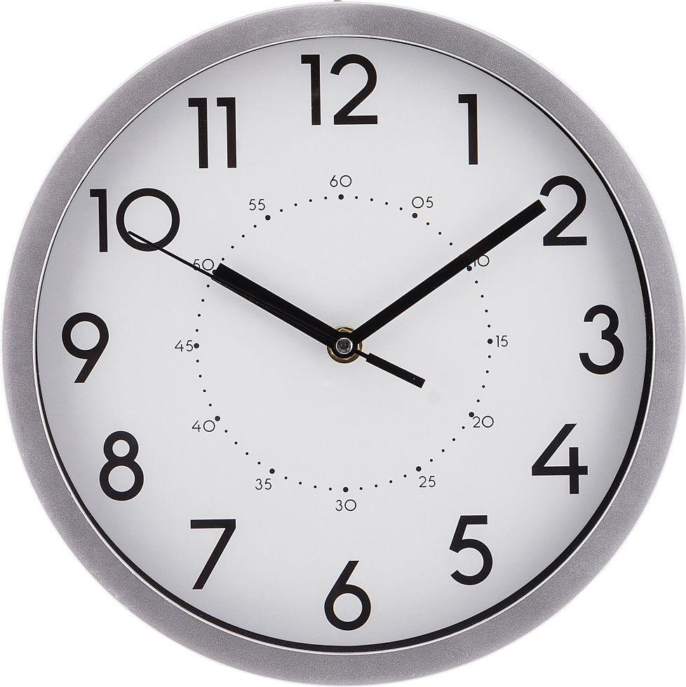 Настенные часы Lefard Lovely Home, 220-348, хром, 25,4 х 25,4 х 4,2 см