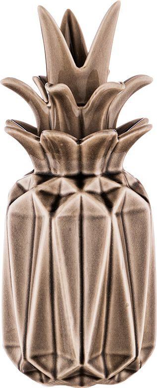 """Ваза с крышкой Lefard """"Ананас"""", 495-4220, коричневый, высота 23 см"""