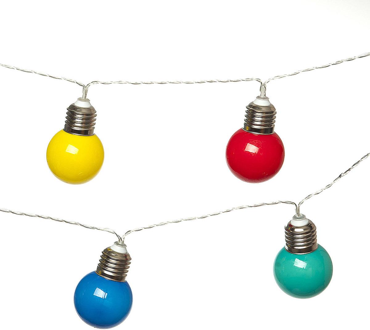 Светильник декоративный Village People Разноцветные лампочки, 10 ламп, длина 135 см