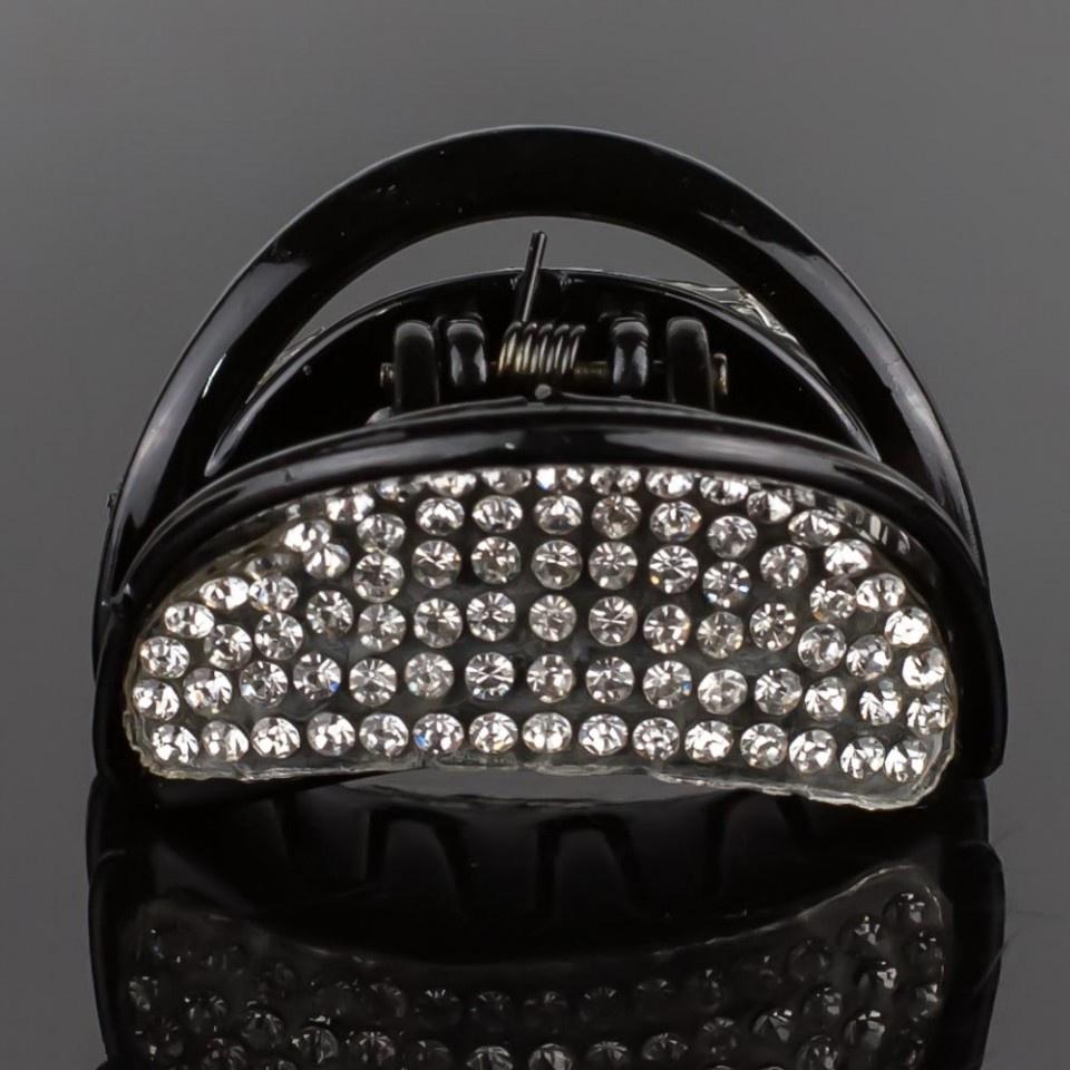 Заколка-краб Мастерская Крутовых ЗК-022, черный цена и фото