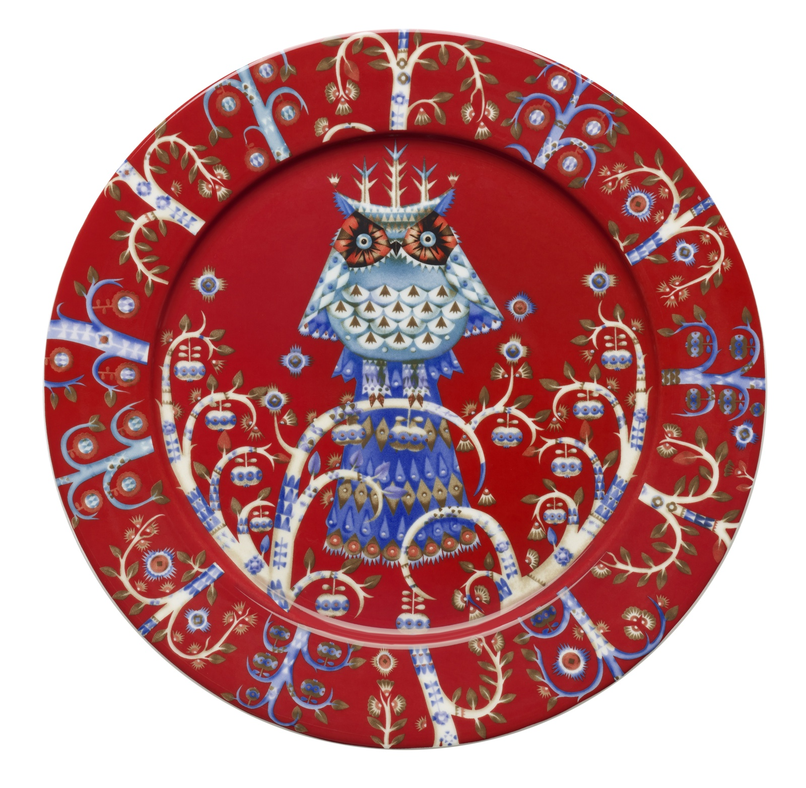 Тарелка Iittala Taika красная, красный iittala тарелка taika