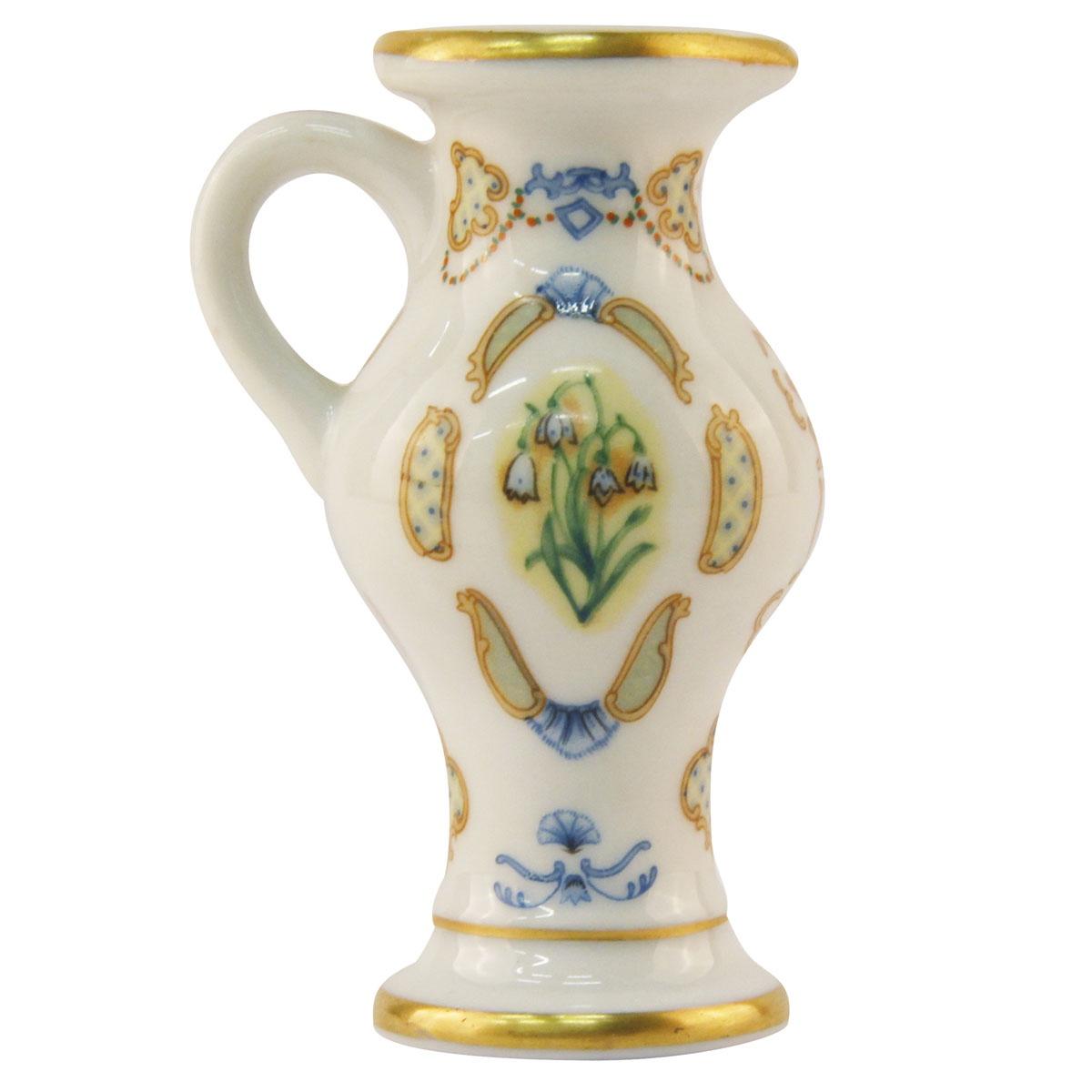Ваза Franklin Mint OC36046, белый, голубой, желтый