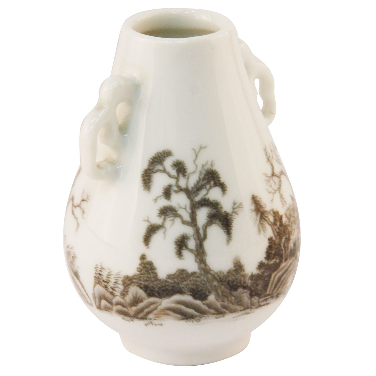 Ваза Franklin Mint OC36048, белый, коричневый ваза noritake миниатюрная лебедь на озере фарфор роспись люстр япония середина 20 века