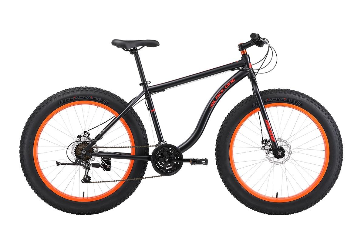 Велосипед Black One Monster 26 D, черный, оранжевый