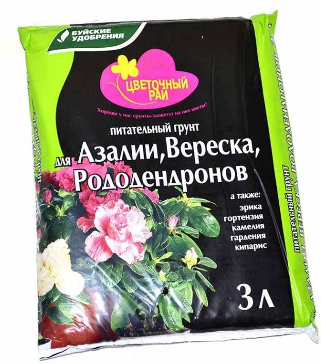 цена на Грунт Буйские удобрения Цветочный рай для азалии, вереска и рододендронов, 3 л
