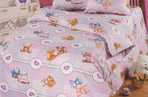 Детский Комплект постельного белья TOONTEX бязь ТТ Пуговка пододеяльник коллекция котик бязь 1 5 спальный 150х210 см