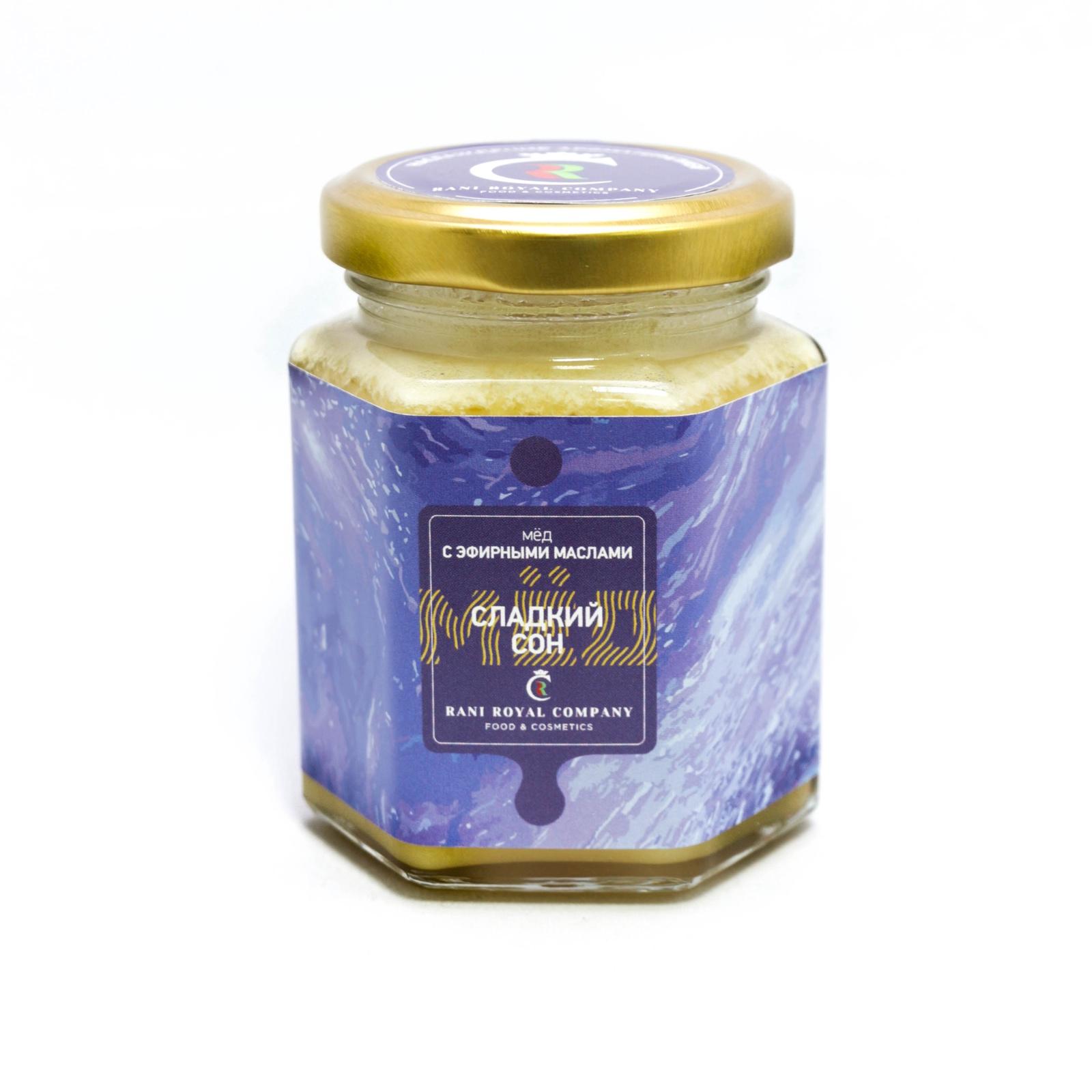 цена на Мед RANI ROYAL COMPANY с эфирными маслами Сладкий сон Стеклянная банка, 240
