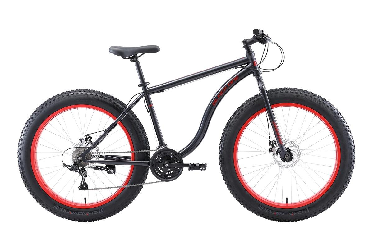 Велосипед Black One Monster 26 D, серый, красный