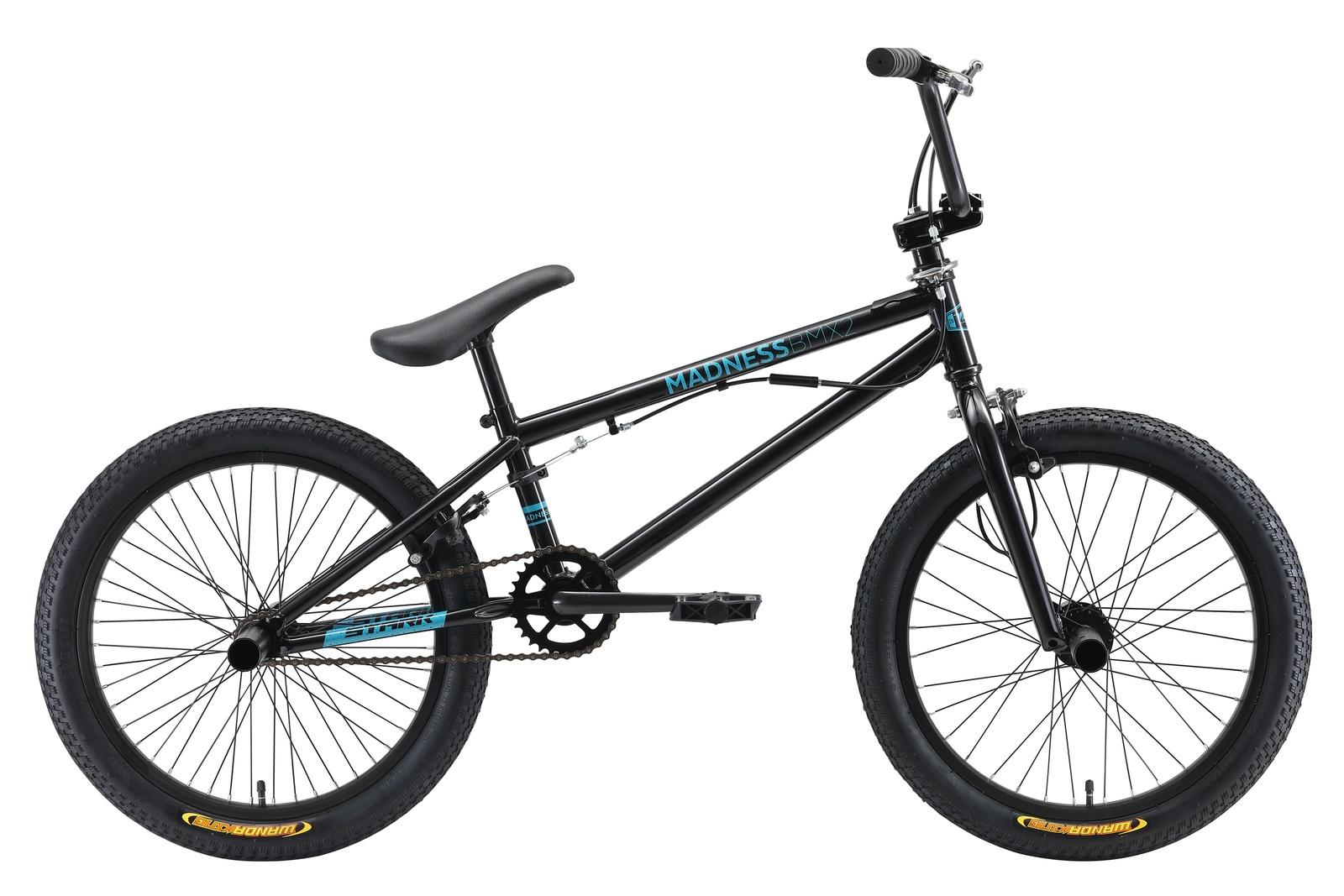 Велосипед Star Madness BMX 2 20 2019, черный, голубой цена