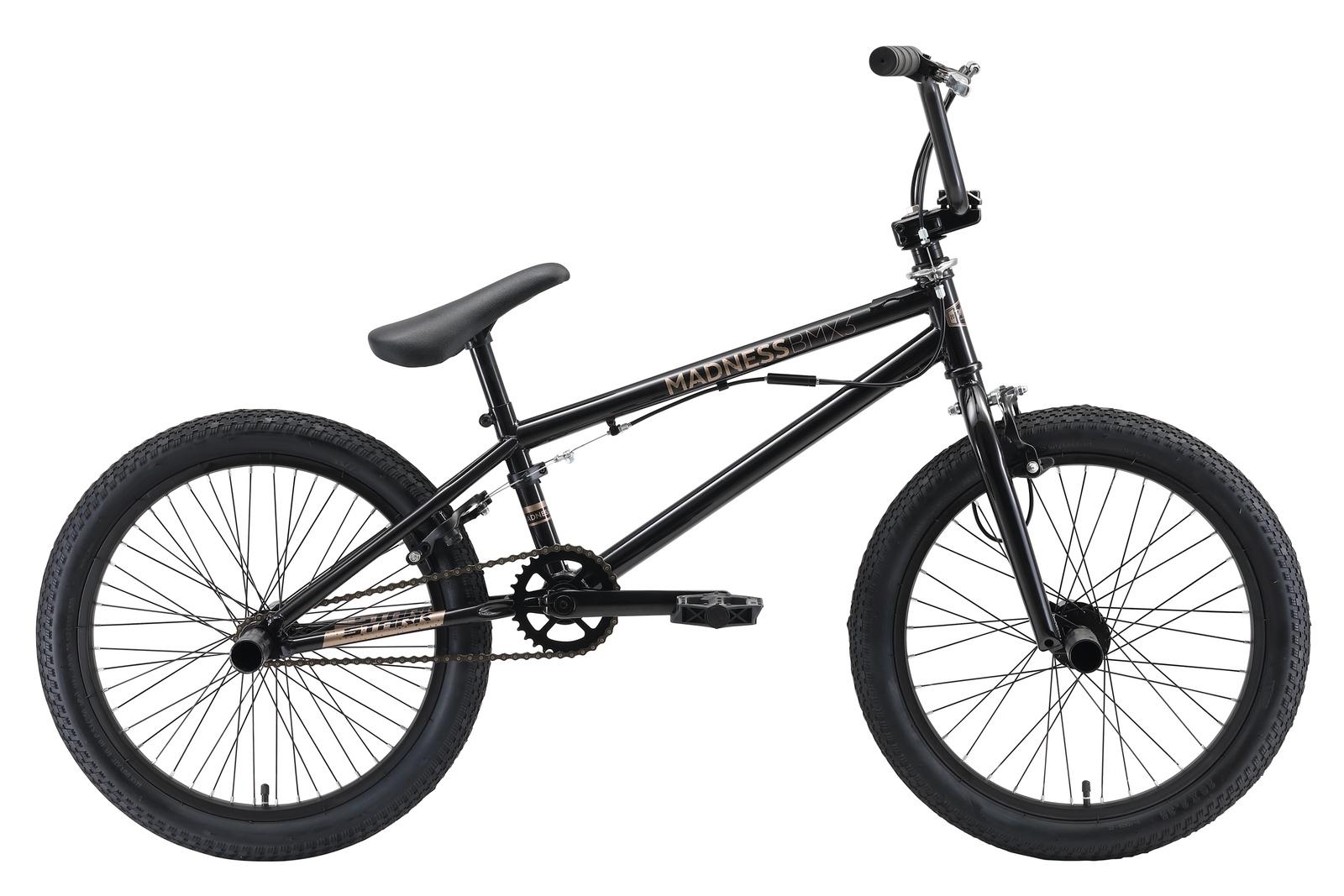 Велосипед Madness BMX 3 20 2019, черный, золотой цена