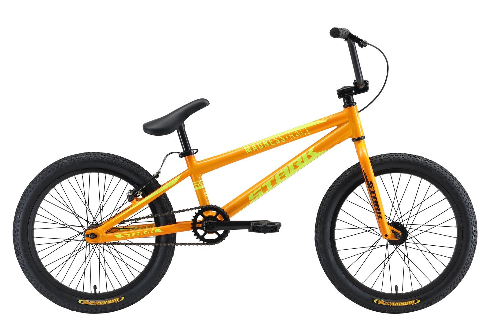 Велосипед Madness BMX Race 20 2019, оранжевый, желтый цена