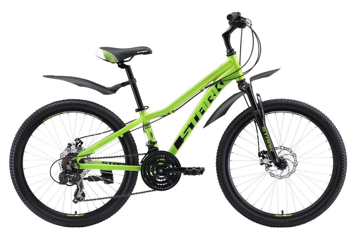 Велосипед Rocket 24.2 D 2019, зеленый, черный