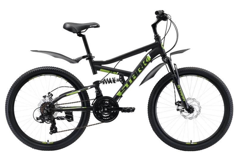 цены на Велосипед Rocket 24.2 FS D 2019, черный, зеленый  в интернет-магазинах