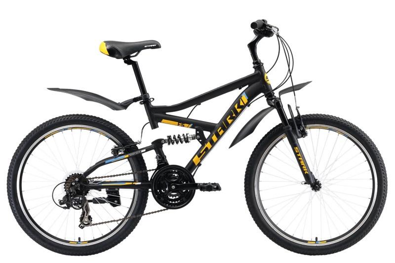 Велосипед Rocket 24.2 FS V 2019, черный, голубой, оранжевый