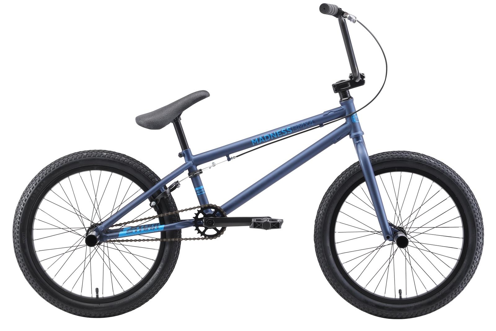 Велосипед Madness BMX 4 20 2019, синий, голубой цена