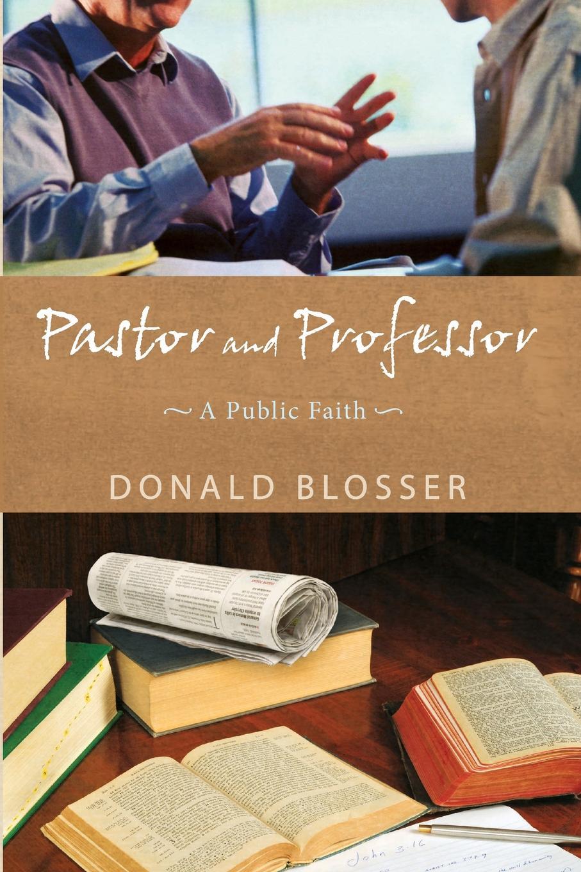 Donald Blosser Pastor and Professor подушка 40х40 с полной запечаткой printio минимал